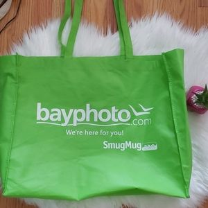 Handbags - Bay Photo Large Neon Green Reusable Tote Bag